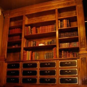 Biblioth Que En Noyer Patrick Delan