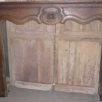 Cheminée bois 18ème siècle