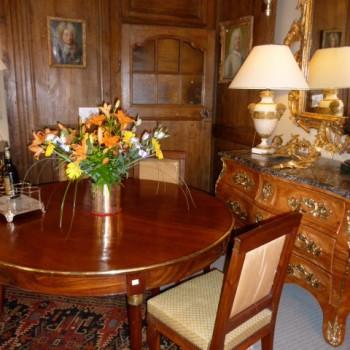 Table acajou et 6 chaises