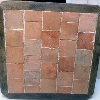 Panneau  mixte bois et terre cuite