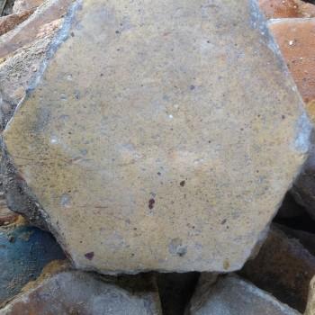 Sol en terre cuite ancien hexagone