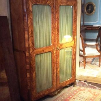 Meuble vitrine époque 18ème louis XV