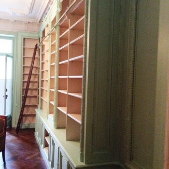 Aménagement d'une pièce en bibliothèque